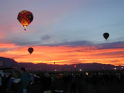 Albuquerque balloon fiesta at sunset